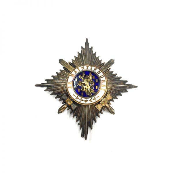 Order of Orange Nassau Grand Officer  Breast Star  with Swords 1