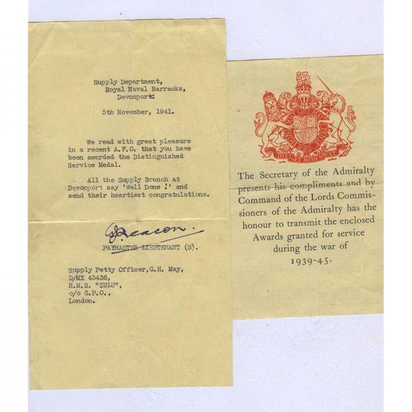 Distinguished Service Medal (GVI) 3