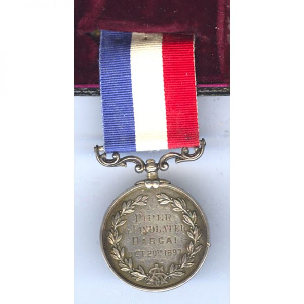 The Ally Sloper's Silver Medal for Bravery awarded to Piper George Frederick... 2