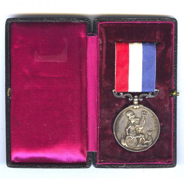 The Ally Sloper's Silver Medal for Bravery awarded to Piper George Frederick... 1