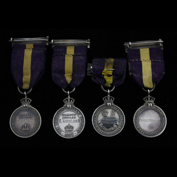 Group of 4 Warrant Holders Medals to the Kirkland Brothers 2