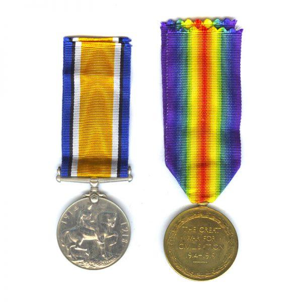 British War Medal & Victory Medal 2
