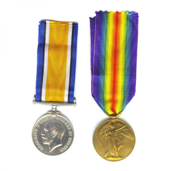 British War Medal & Victory Medal 1