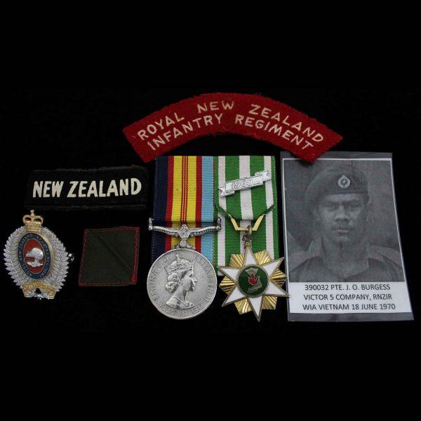 Vietnam Pair RNZIR Wounded Maori Descent 1
