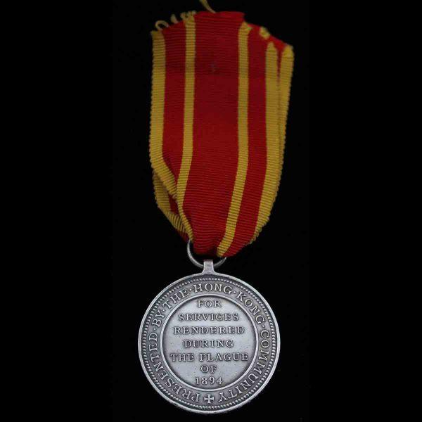 Hong Kong Plague Medal Shropshire L.I. 2