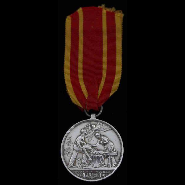 Hong Kong Plague Medal Shropshire L.I. 1