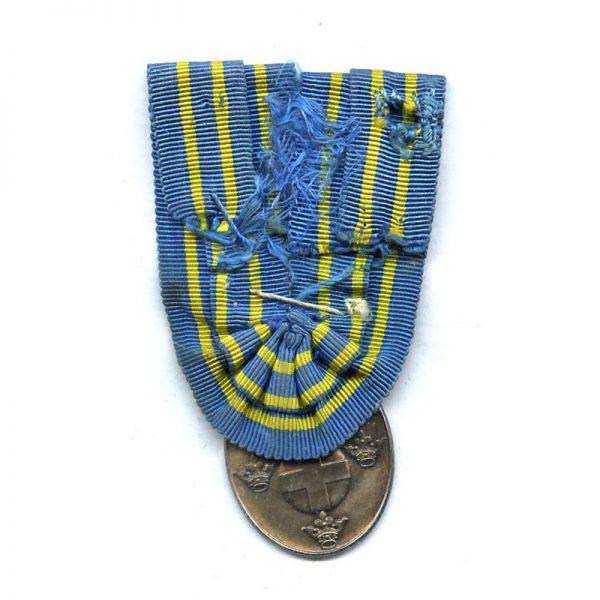 Gustav V  Swedish militia merit medal silver (L12220)  N.E.F. £45 2