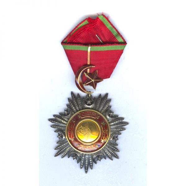 Order of the Medjidie  Commander neck badge Crimea Period with  all gold  centre 1