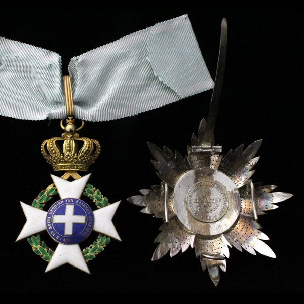 Order of the Redeemer Grand Officer neck badge and breast star 2