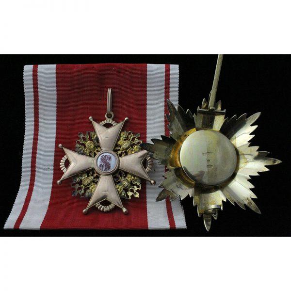Order of St Stanislaus 'Grand Cross' 1st Class Set 2
