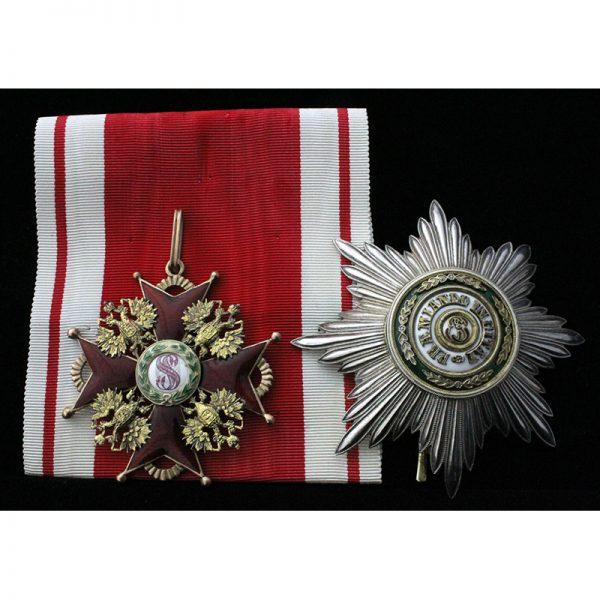 Order of St Stanislaus 'Grand Cross' 1st Class Set 1