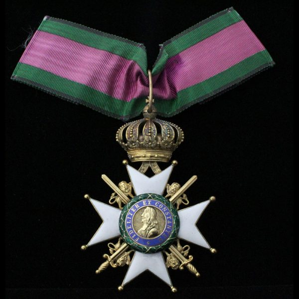 Order of Saxe Ernestine Commander neck badge with Swords 1