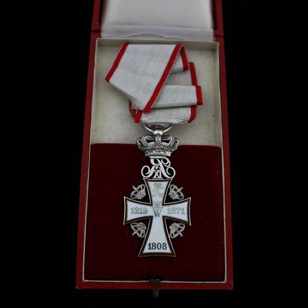 0rder of Dannebrog Knight 2nd class Frederick IX in silver 2