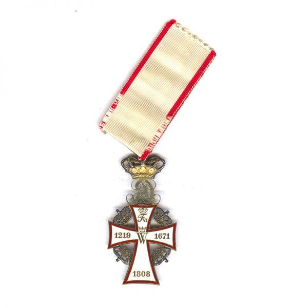 Order of Dannebrog  Commander Neck Badge CX in silver gilt (L27844)  N.E.F... 2