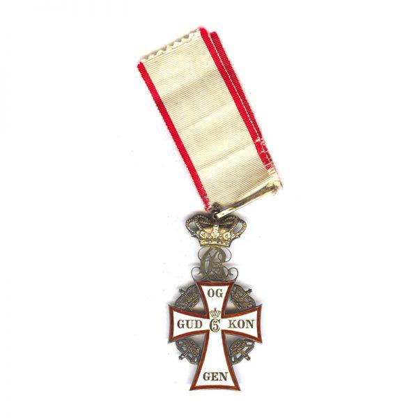 Order of Dannebrog  Commander Neck Badge CX in silver gilt (L27844)  N.E.F... 1