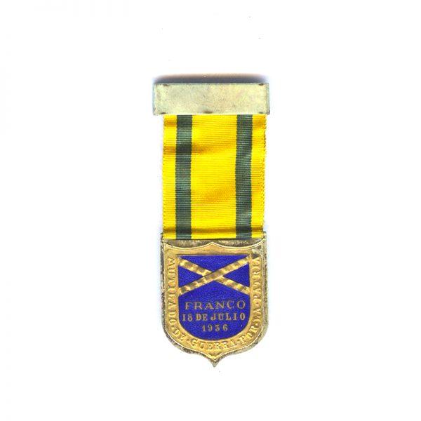 Civil War Wound Badge Franco(L28276)  G.V.F. £65 1