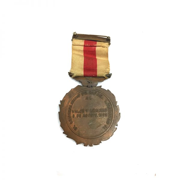 Medal of Valor and Loyalty from Trujillo 3rd August 1952 2