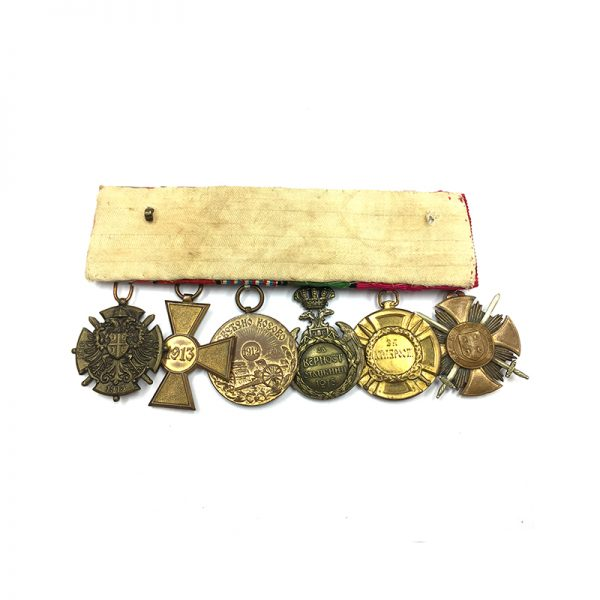 Group of 6 mounted Serbian style, Karageorge Soldiers cross 2