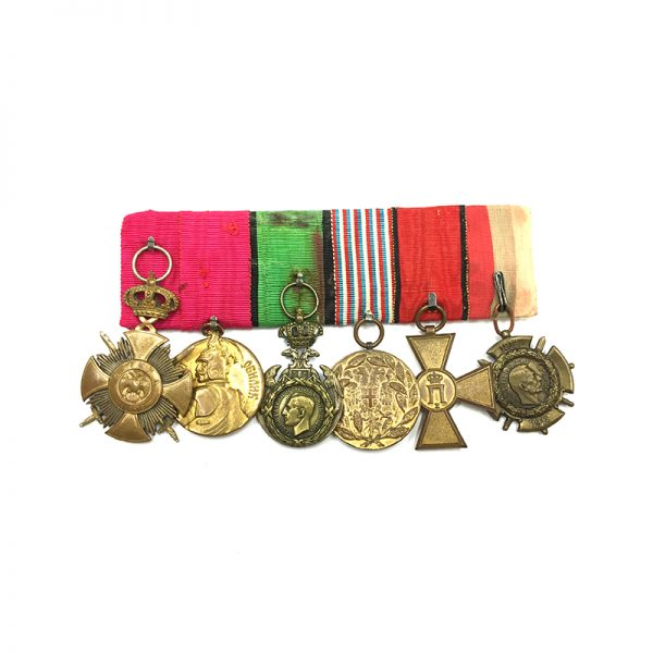 Group of 6 mounted Serbian style, Karageorge Soldiers cross 1