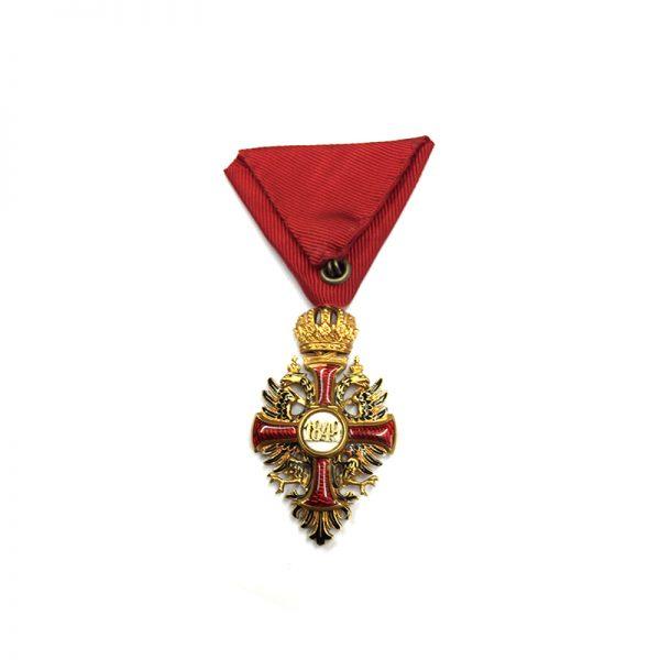 Order of Franz Joseph Knight badge in hallmarked  gold 2