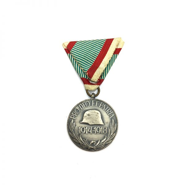 War Medal 1914-18 with Hungarian official ribbon 2