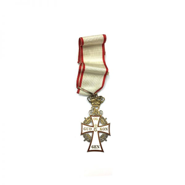 Order of Dannebrog  Commander Neck Badge FIX in silver gilt 1