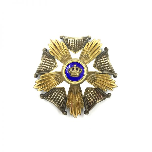 Order of The Crown Grand Officer  breast star superb  heavy quality by... 1
