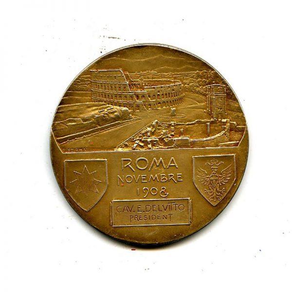 International Congress large silver gilt table medal Vitt.Emm.  November 1908 2