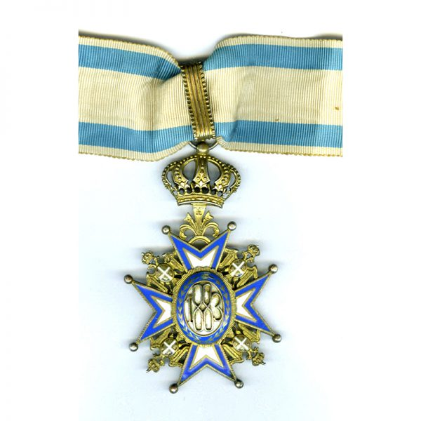 Order of St. Sava Commander 2nd Type  Green Robes 2