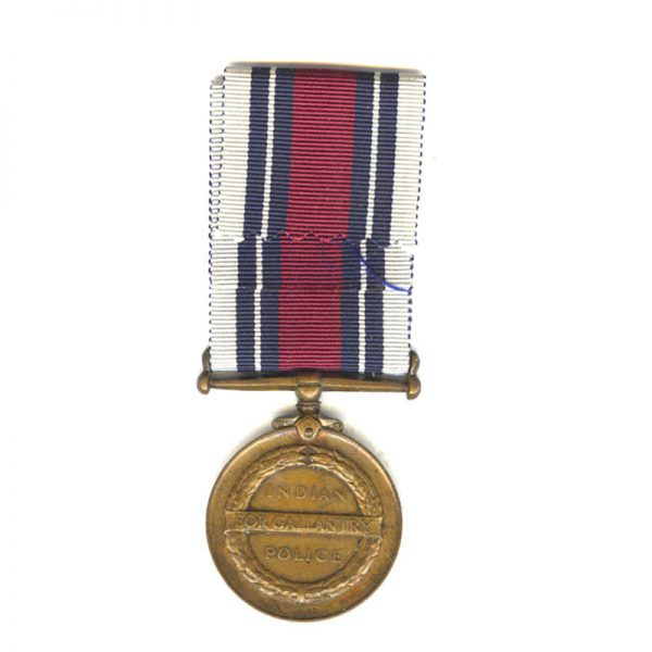 Indian Police Medal of Gallantry bronze 1951 2