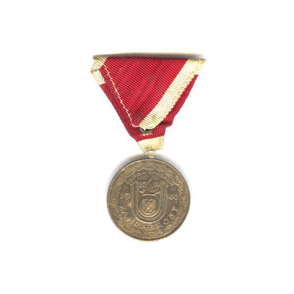 Pavelic bravery medal 1941 silver rare 2