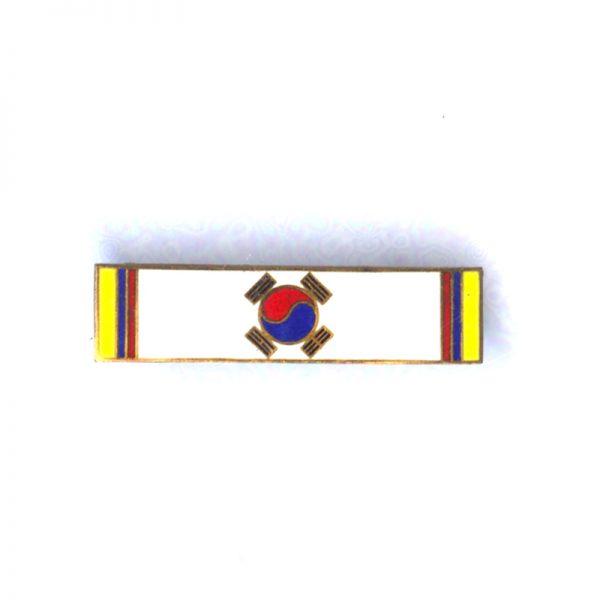 Korean Campaign Bronze Valor Star Ribbon bar enamelled 1