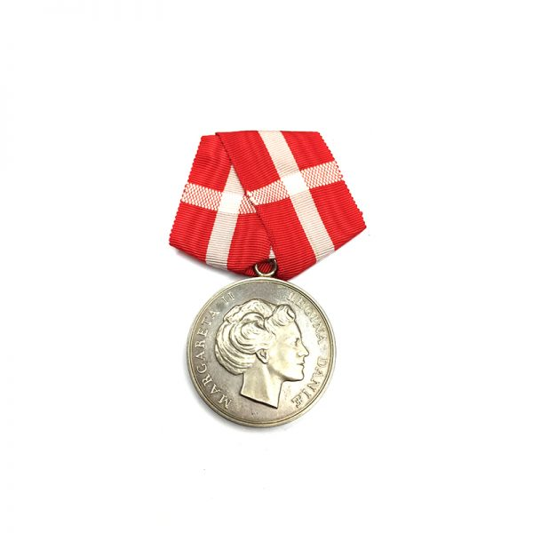Medal of Merit  Margarethe to Paul Rasmus Rasmussen cased 1
