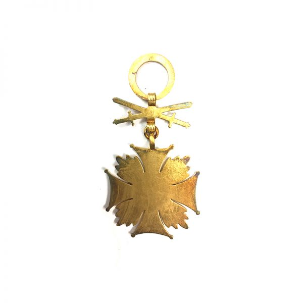 Cross of Merit R.P. gold  (silver gilt ) with swords 2