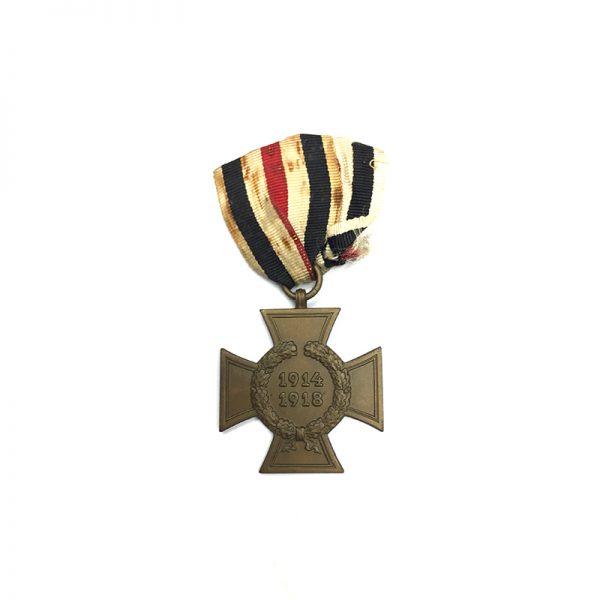 Honour Cross 1914-18 no swords scarce 1