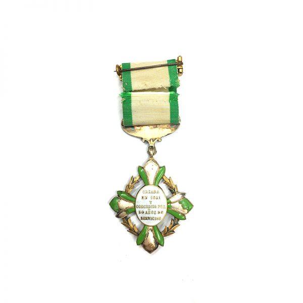 Mexico Cross for  Military Long Service Constancia 2