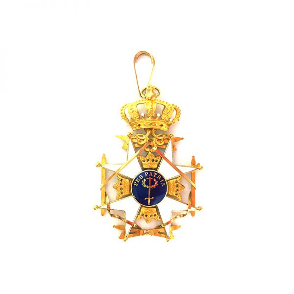 Order of the Sword Grand Cross Sash badge in gold 2