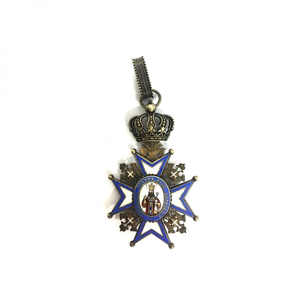 Order of St. Sava Commander 2nd Type 1st issue with Red Robes 1