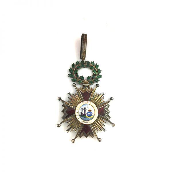 Order of Isabella the Catholic  Grand Officer  commander neck badge 1