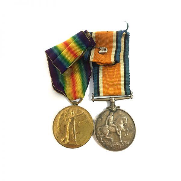 WW1 Pair Lieut 26th Northld Fus KIA 2