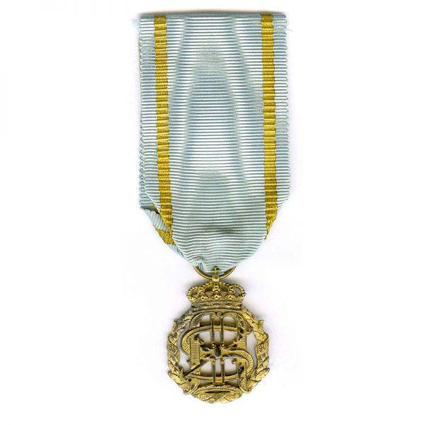 King Oscar & Queen Sophia Golden Wedding Anniversary medal 1907 silver gilt(21029... 1