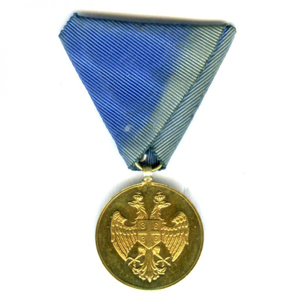 Medal of Zeal 1913 1st  class gold (gilt) superb quality and condition... 1