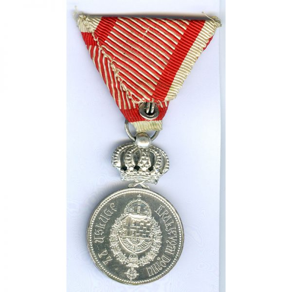Royal Household medal silver with crown 2