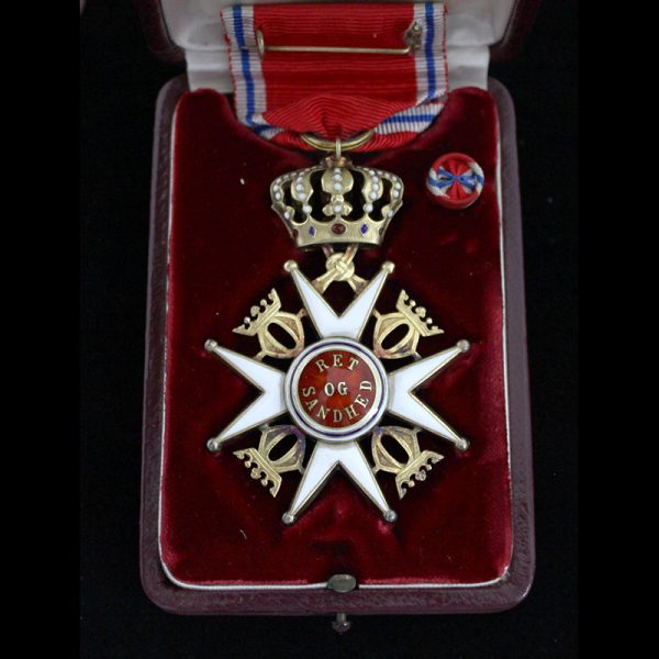 Order of Olaf Officer 2nd type in silver gilt 2