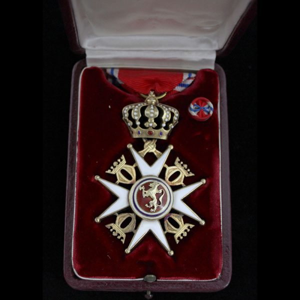 Order of Olaf Officer 2nd type in silver gilt 1