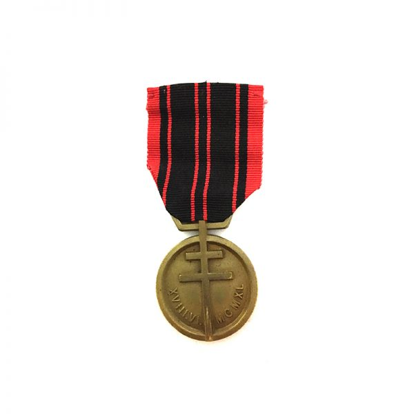 Resistance medal 1939-1945 	1st Type London 1