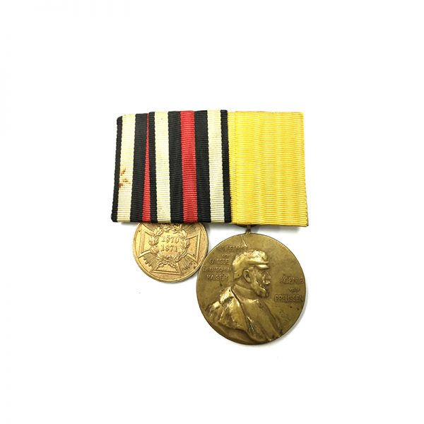 Group of 2; Franco Prussian War medal 1870-1871 1