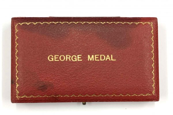 George Medal Disarming Assailant Shot in Eye 4