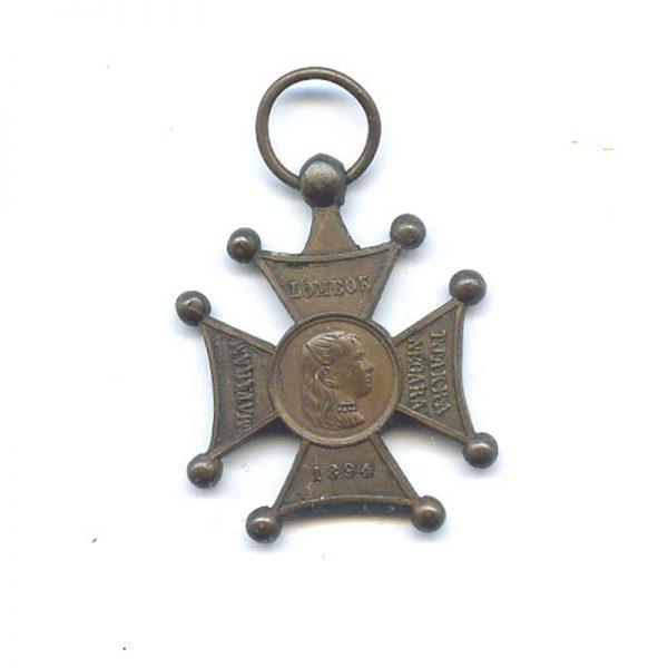 Lombok Cross 1894 reduced size  32mm scarce (n.r.) 1