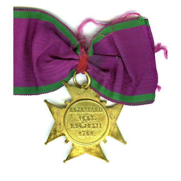 Order of Amaranth neck  badge in gilt on old silk full neck... 2
